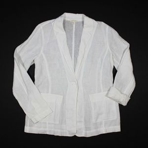 Eileen Fisher Blazer Jacket Irish Linen Lagenlook